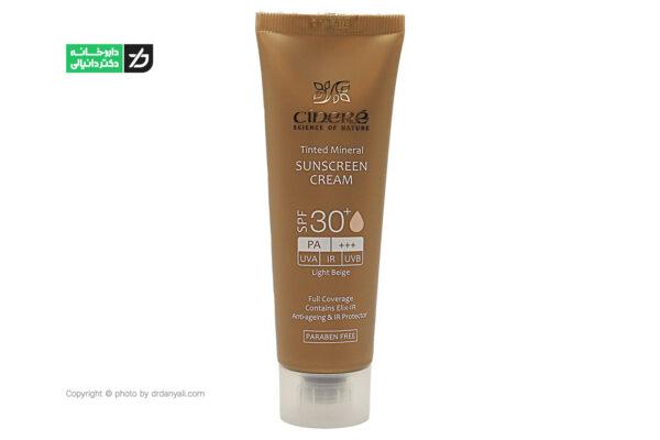 کرم ضد آفتاب مینرال رنگی سینره SPF30