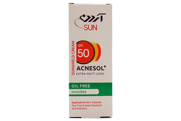 کرم ضد آفتاب مات کننده فاقد چربی آردن