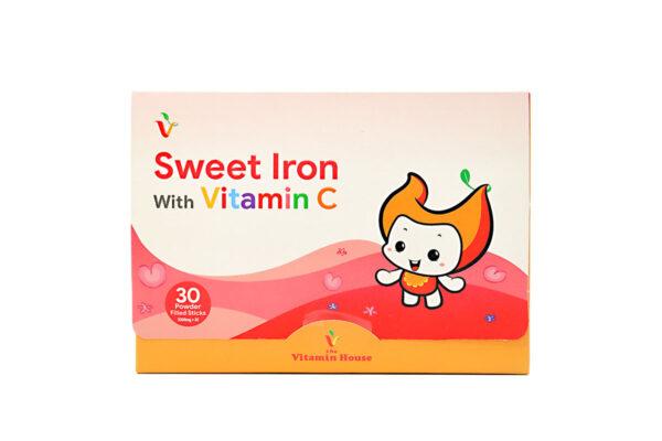 سوییت آیرون با ویتامین c ویتامین هاوس ۳۰ ساشه
